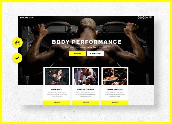 Gym Business Website
