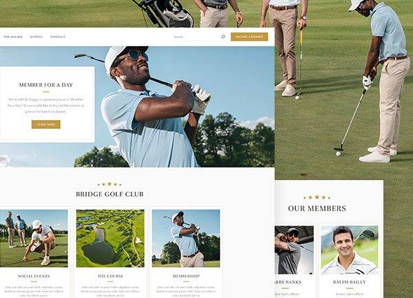 Golf Business Website