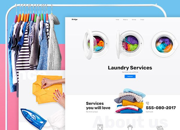 Laundry Service Business Website