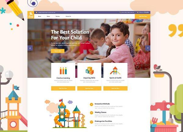 Kindergarten Business Website