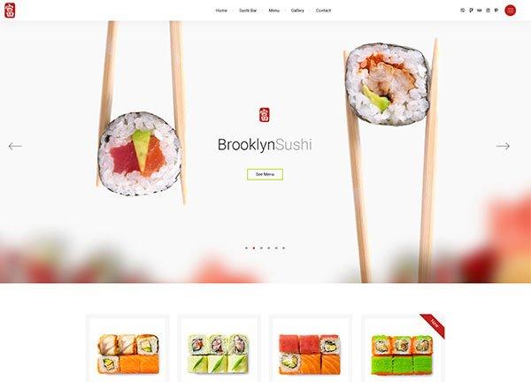 Sushi Bar Business Website