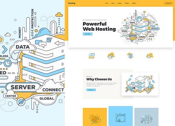Web Hosting Business Website