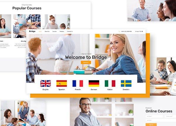 Language School Business Website