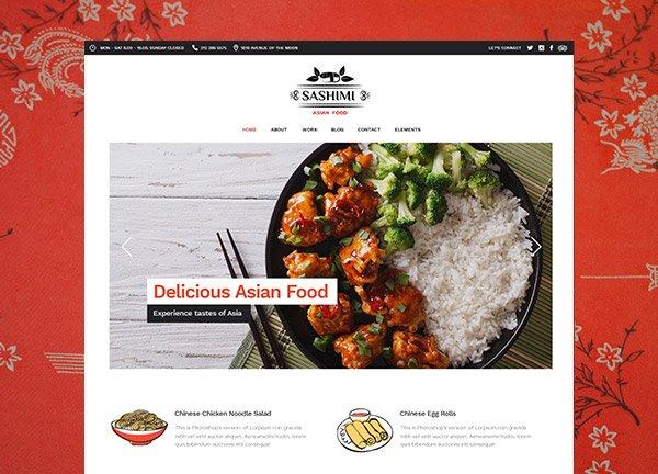 Asian Cuisine Business Website