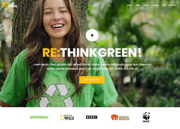 Environmental Organization Business Website