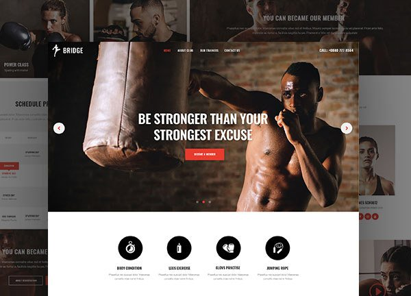 Boxing Gym Business Website