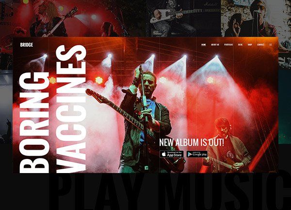 Alternative Band Creative Website