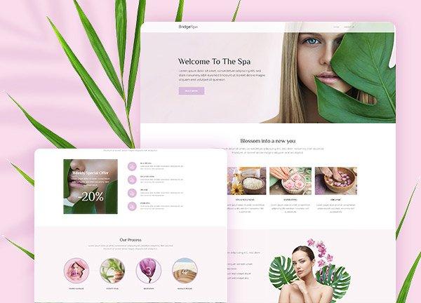 Spa Wellness Business Website