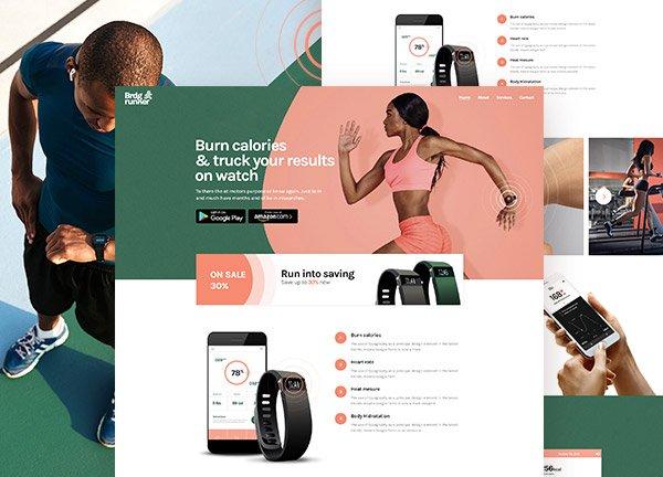 Fitness Tracker Business Website