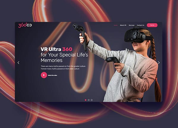 Virtual Reality Business Website