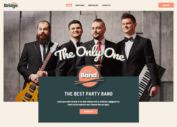Music Band Business Website