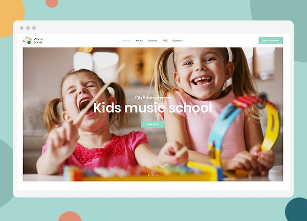 Music School Business Website