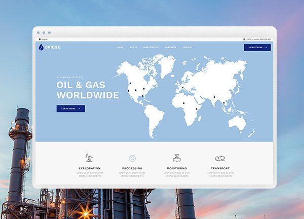 Oil Industry Business Website