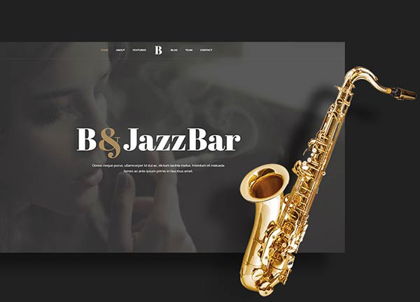 Jazz Bar Creative Website