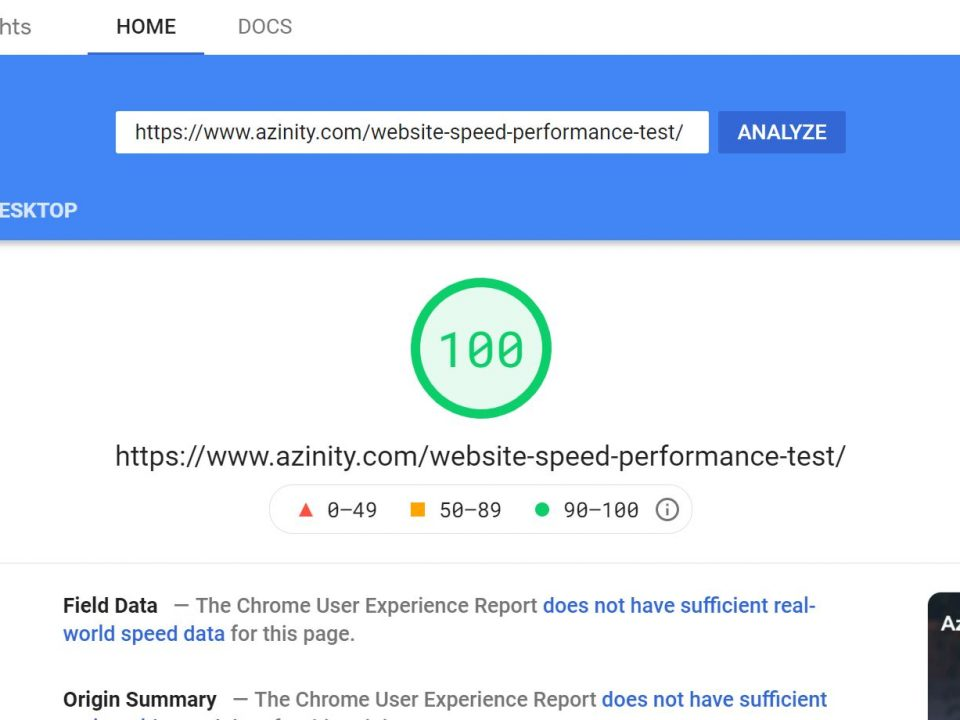 High PageSpeed Insights Score, Fast Lightweight Theme